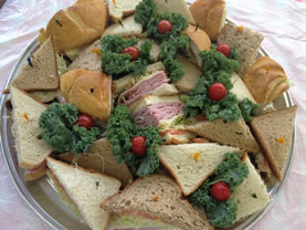 finger sandwiches tray
