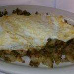 eggs with conred beef hash